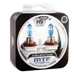 Галогенные автолампы H9 12V 65W ARGENTUM +80% комплект