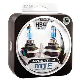 Галогенные автолампы HB4(9006) 12V 55W ARGENTUM +80% комплект