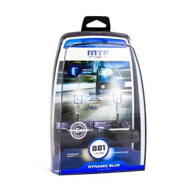 Галогенные автолампы H27W/2 (881) 12V 27W DYNAMIC BLUE комплект