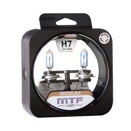 Галогенные автолампы MTF Light серия IRIDIUM H7, 12V, 55W, комплект