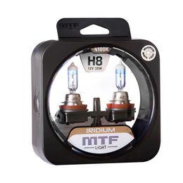 Галогенные автолампы MTF Light серия IRIDIUM H8, 12V, 35W, комплект