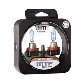 Галогенные автолампы MTF Light серия IRIDIUM H11, 12V, 55W, комплект