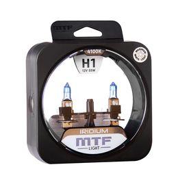 Галогенные автолампы MTF Light серия IRIDIUM H1, 12V, 55W, комплект