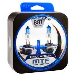 Галогенные автолампы Н27(881) 12V 27W PALLADIUM комплект