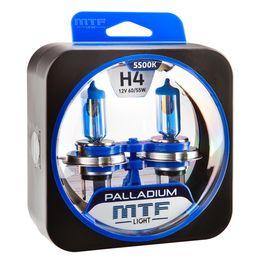 Галогенные автолампы H4 12V 60/55W PALLADIUM комплект