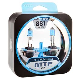 Галогенные автолампы Н27(881) 12V 27W TITANIUM комплект