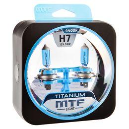 Галогенные автолампы H7 12V 55W TITANIUM комплект