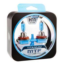 Галогенные автолампы H11 12V 55W TITANIUM комплект