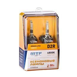 Ксеноновые лампы MTF Light D2R, ABSOLUTE VISION +50%, 3800lm, 4800K, 35W, 85V, 2 шт.