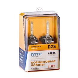 Ксеноновые лампы MTF Light D2S, ABSOLUTE VISION +50%, 3800lm, 4800K, 35W, 85V, 2 шт.