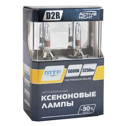 Ксеноновые лампы MTF Light D2R, ACTIVE NIGHT +30%, 3250lm, 6000K, 35W, 85V, 2 шт.