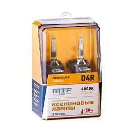 Ксеноновые лампы MTF Light D4R, ABSOLUTE VISION +50%, 3800lm, 4800K, 35W, 42V, 2 шт.
