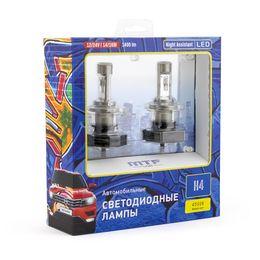 Светодиодные автолампы MTF Light, серия Night Assistant, 4500K, H4, комплект