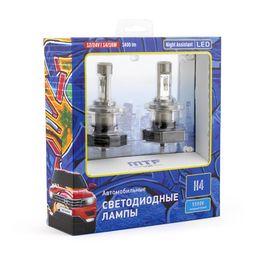 Светодиодные автолампы MTF Light, серия Night Assistant, 5500K, H4, комплект