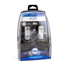 Светодиодные автолампы MTF Light, серия DYNAMIC BLUE LED HB4, 5500K, комплект
