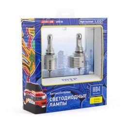 Светодиодные автолампы HB4 HB3 HIR2 12/24В 18Вт Night Assistant 4500К белый