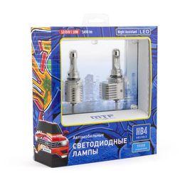 Светодиодные автолампы HB4 HB3 HIR2 12/24В 18Вт Night Assistant 5500К холодный белый