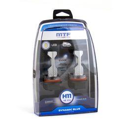 Светодиодные автолампы MTF Light, серия DYNAMIC BLUE LED H8/H11/H16, 5500K, комплект