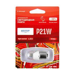 Светодиодная автолампа P21W 12В 2.5Вт Night Assistant LED красная