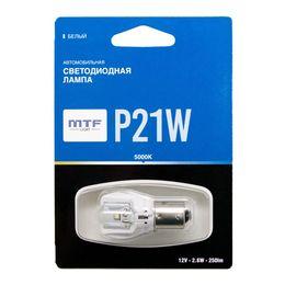 Светодиодная автолампа P21W 12В 2.6Вт белая