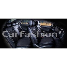 Каркасные накидки 3D на сиденья автомобиля ARSENAL PLUS комплект, экокожа/твид, чёрный
