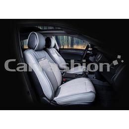 Каркасные накидки 3D на сиденья автомобиля ARSENAL передние, экокожа/твид, серый
