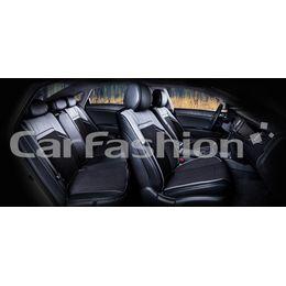 Каркасные накидки 3D на сиденья автомобиля ARSENAL PLUS комплект, экокожа/твид, серый, чёрный