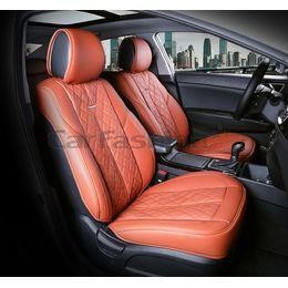 Каркасные накидки 3D на сиденья автомобиля BALATON передние, экокожа, коричневый