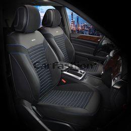 Каркасные накидки 3D на сиденья автомобиля CHESTER передние, экокожа, чёрный, чёрный, синий, синий