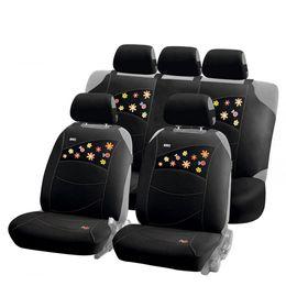 Накидки на сиденья автомобиля BEETLES PLUS комплект, трикотаж, чёрный