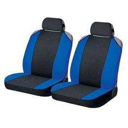Накидки на сиденья автомобиля CROSS FRONT передние, полиэстер, чёрный, синий, синий
