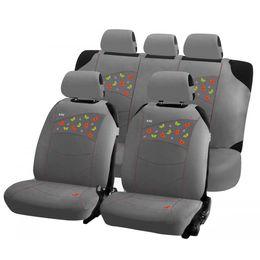 Накидки на сиденья автомобиля BUTTERFLIES PLUS комплект, трикотаж, серый