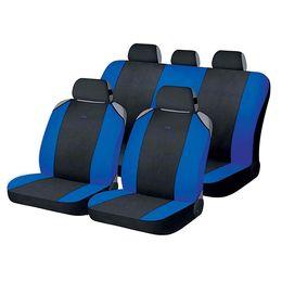 Накидки на сиденья автомобиля CROSS комплект, полиэстер, чёрный, синий, синий