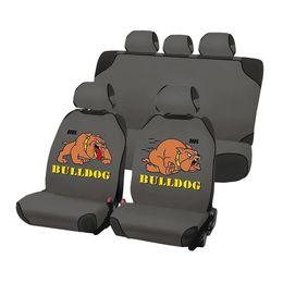Накидки на сиденья автомобиля CARTOON BULLDOG PLUS комплект, трикотаж, серый