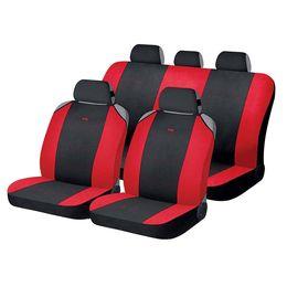 Накидки на сиденья автомобиля CROSS комплект, полиэстер, чёрный, красный, красный