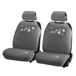 Накидки на сиденья автомобиля FLOWERS FRONT передние, трикотаж, серый