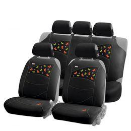 Накидки на сиденья автомобиля BUTTERFLIES PLUS комплект, трикотаж, чёрный