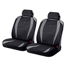 Накидки на сиденья автомобиля CRUISE FRONT передние, алькантара, светло-серый, чёрный
