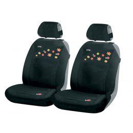 Накидки на сиденья автомобиля BEETLES FRONT передние, трикотаж, чёрный