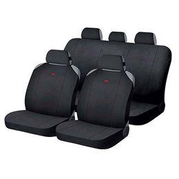 Накидки на сиденья автомобиля CROSS комплект, полиэстер, чёрный, чёрный, красный