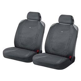 Накидки на сиденья автомобиля CRUISE FRONT передние, алькантара, тёмно-серый