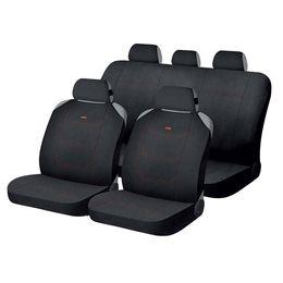 Накидки на сиденья автомобиля CROSS комплект, полиэстер, чёрный, чёрный, оранжевый