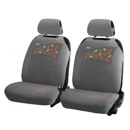 Накидки на сиденья автомобиля BUTTERFLIES FRONT передние, трикотаж, серый