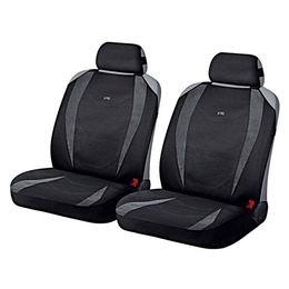 Накидки на сиденья автомобиля CRUISE FRONT передние, алькантара, тёмно-серый, чёрный