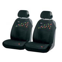 Накидки на сиденья автомобиля BUTTERFLIES FRONT передние, трикотаж, чёрный