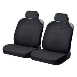 Накидки на сиденья автомобиля CROSS FRONT передние, полиэстер, чёрный, чёрный, оранжевый