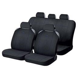 Накидки на сиденья автомобиля CROSS комплект, полиэстер, чёрный, чёрный, синий