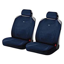 Накидки на сиденья автомобиля CRUISE FRONT передние, алькантара, тёмно-синий