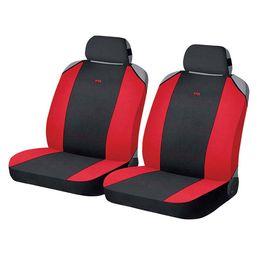 Накидки на сиденья автомобиля CROSS FRONT передние, полиэстер, чёрный, красный, красный
