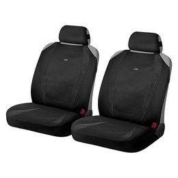 Накидки на сиденья автомобиля CRUISE FRONT передние, алькантара, чёрный